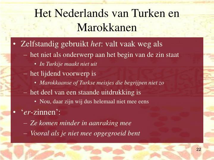 Het Nederlands van Turken en Marokkanen