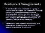 development strategy contd