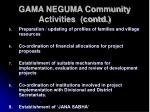 gama neguma community activities contd