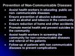 prevention of non communicable diseases