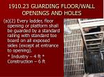 1910 23 guarding floor wall openings and holes12