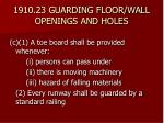 1910 23 guarding floor wall openings and holes23