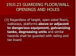 1910 23 guarding floor wall openings and holes24