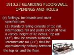 1910 23 guarding floor wall openings and holes27