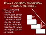1910 23 guarding floor wall openings and holes28