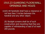 1910 23 guarding floor wall openings and holes29