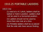 1910 25 portable ladders35