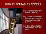 1910 25 portable ladders38