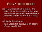 1910 27 fixed ladders