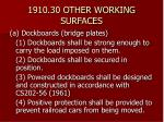 1910 30 other working surfaces