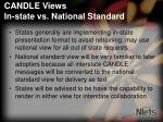 candle views in state vs national standard