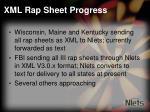 xml rap sheet progress