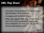 xml rap sheet