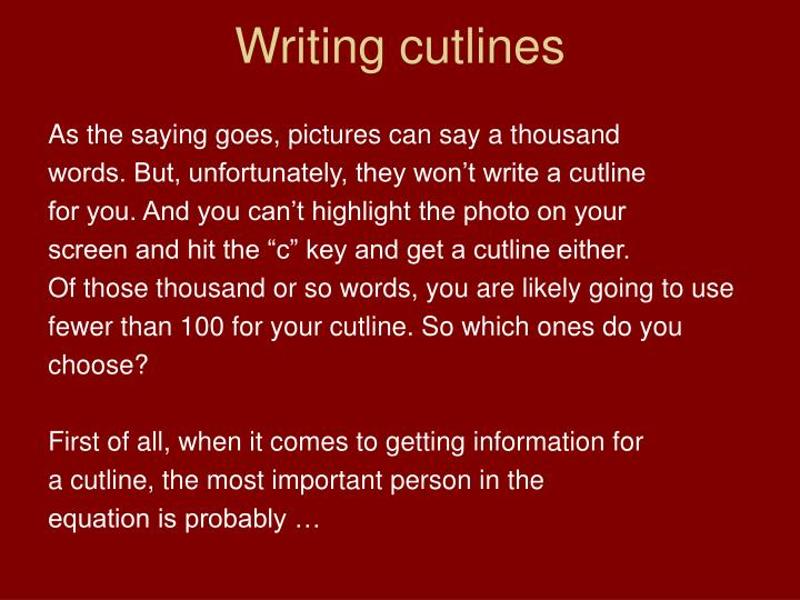 Writing cutlines2