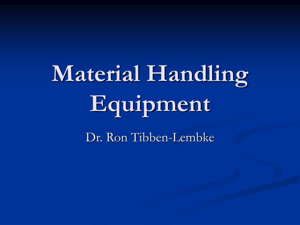 material handling equipment l.