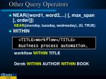 other query operators10