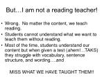 but i am not a reading teacher