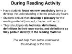during reading activity