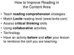 how to improve reading in the content area