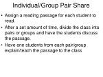 individual group pair share