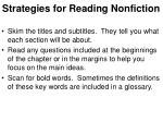 strategies for reading nonfiction
