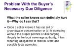 problem with the buyer s necessary due diligence