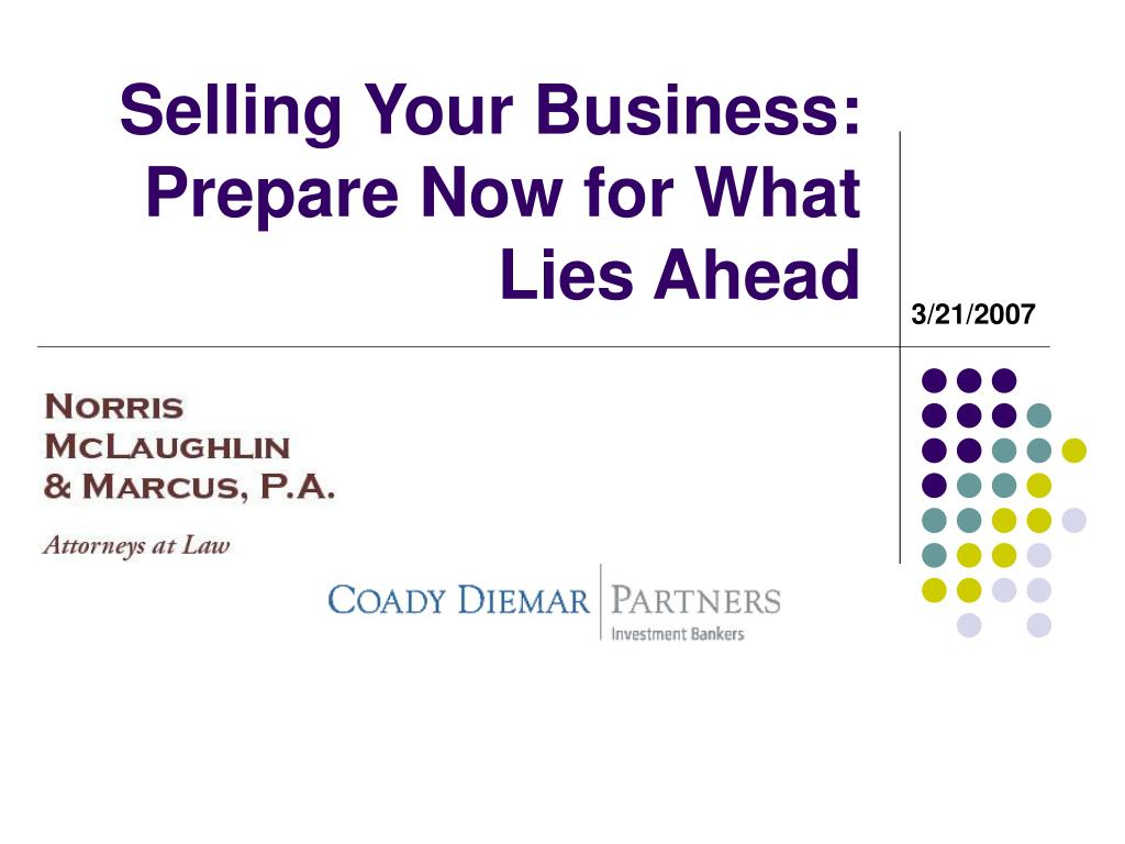 selling your business prepare now for what lies ahead l.