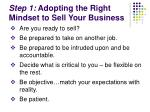 step 1 adopting the right mindset to sell your business