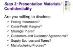 step 3 presentation materials confidentiality19
