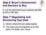 step 6 buyer s assessment and decision to buy