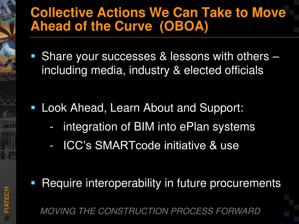 Collective Actions We Can Take to Move Ahead of the Curve  (OBOA)