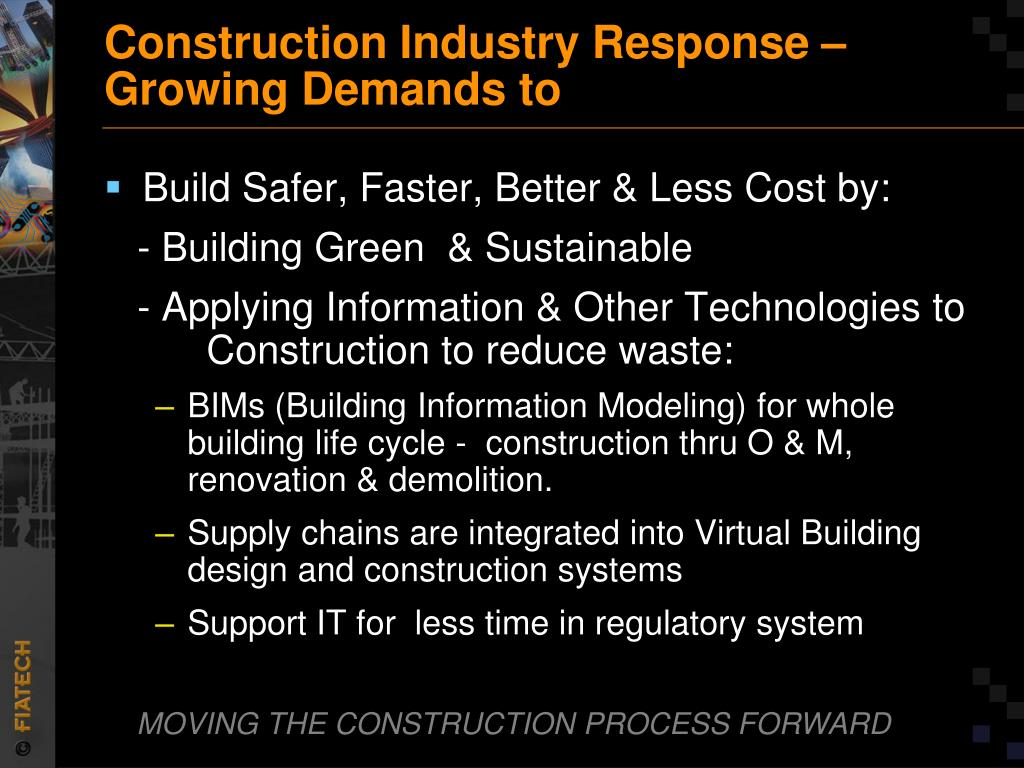 Construction Industry Response –