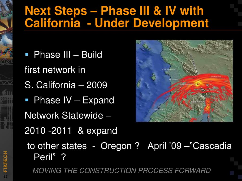 Next Steps – Phase III & IV with California  - Under Development