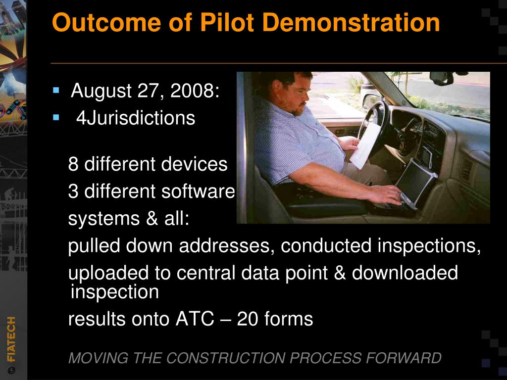 Outcome of Pilot Demonstration