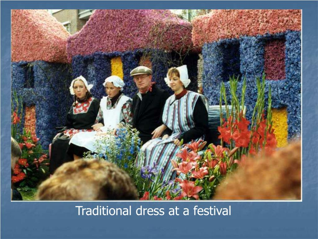 Traditional dress at a festival