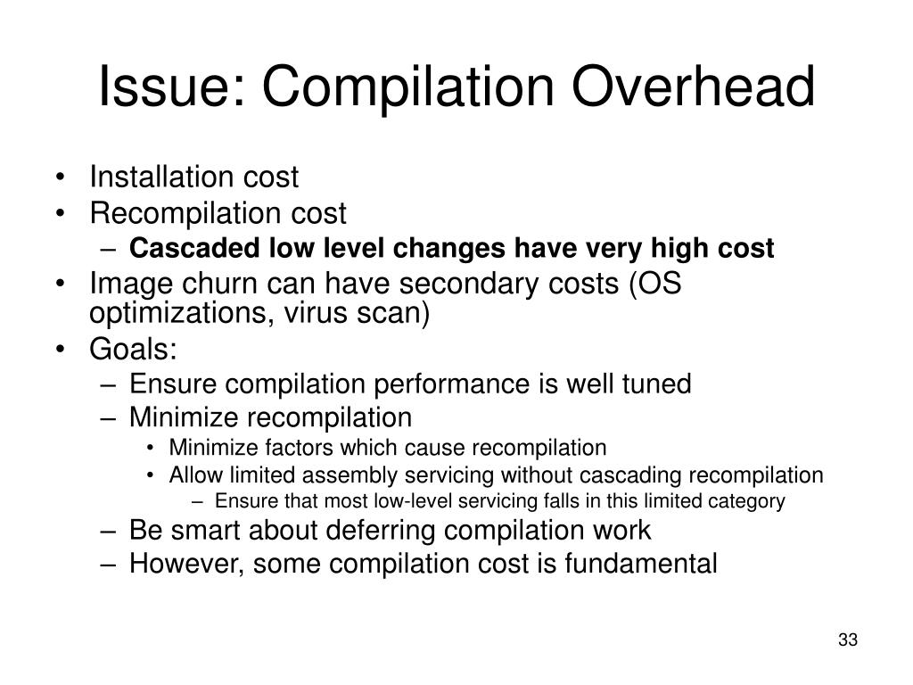 Issue: Compilation Overhead
