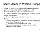 issue managed watson dumps