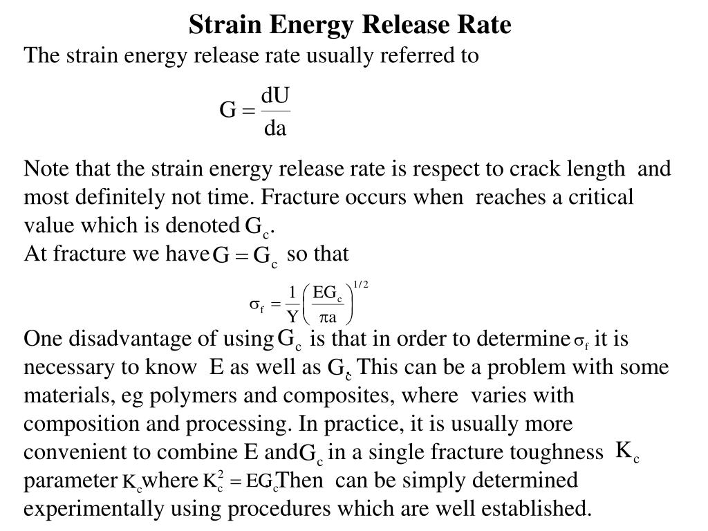 Strain Energy Release Rate
