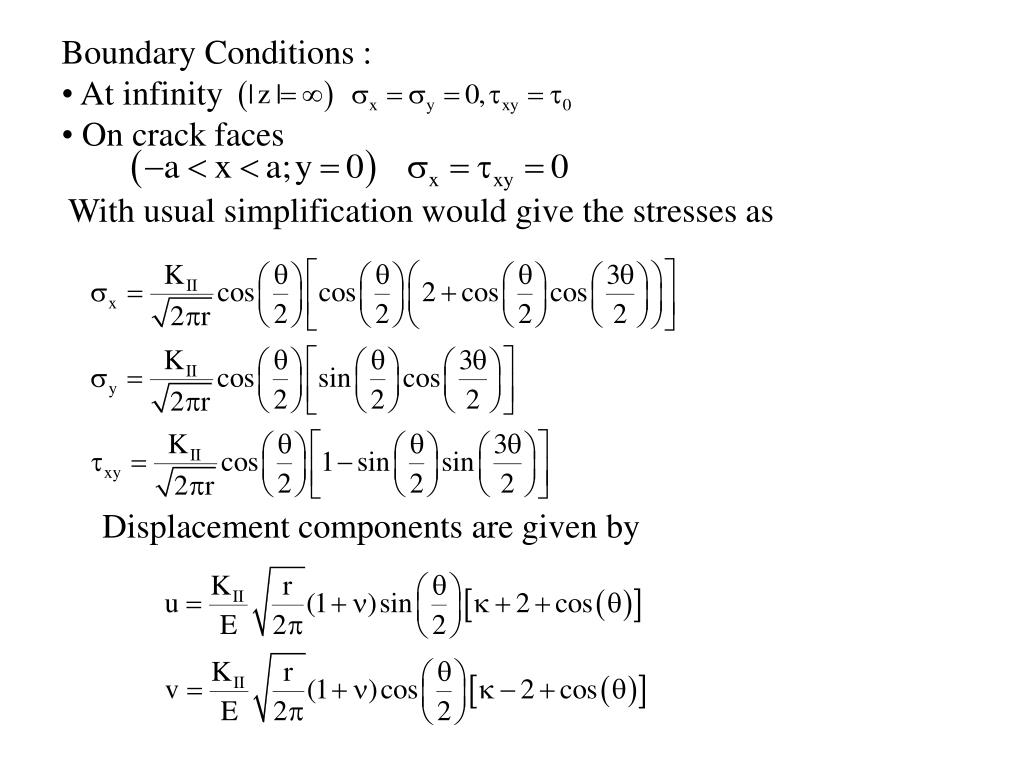 Boundary Conditions :