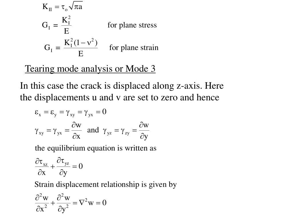 Tearing mode analysis or Mode 3
