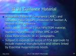 ir 21 guidance material
