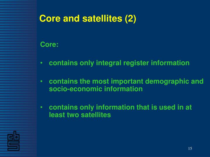 Core and satellites (2)