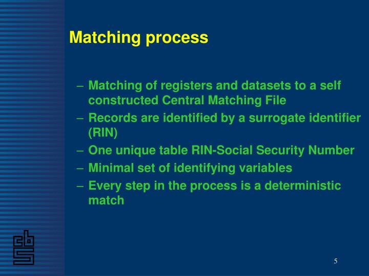 Matching process
