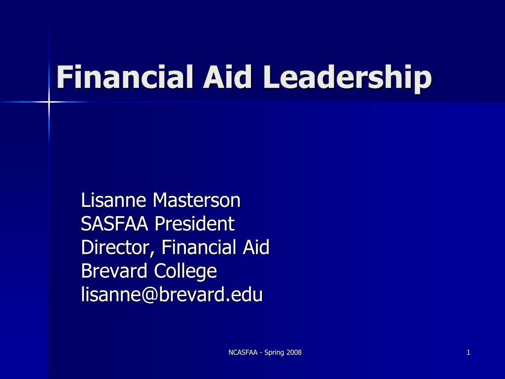 financial aid leadership l.