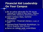 financial aid leadership on your campus