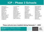 icp phase 3 schools