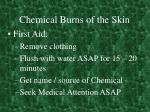 chemical burns of the skin
