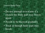 frozen body parts