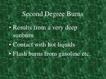 second degree burns