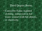 third degree burns